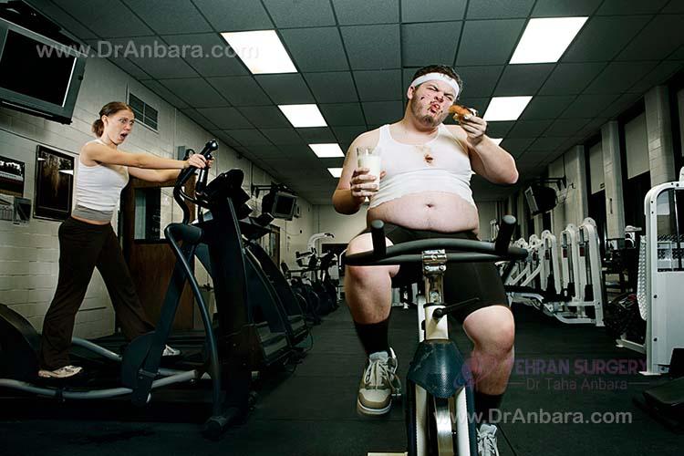 ورزش زیاد و پر خوری