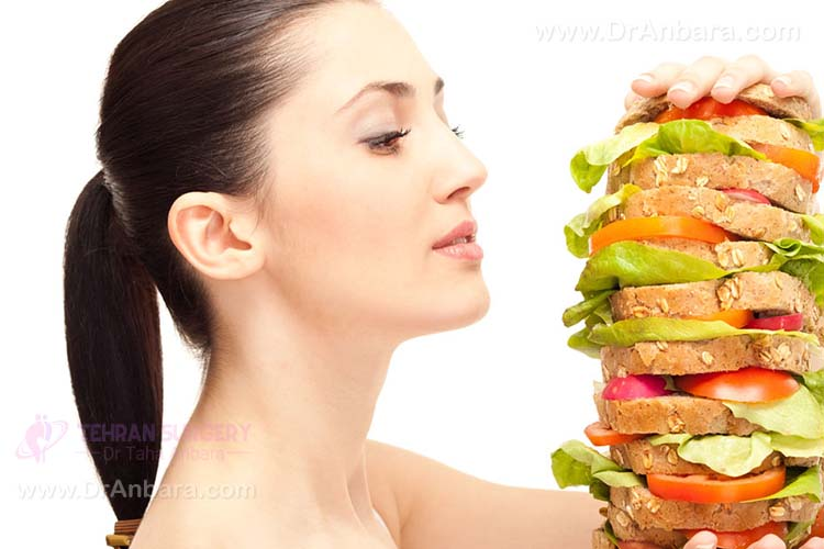 وعده های غذایی پر حجم از دلایل عدم کاهش وزن محسوب می شود