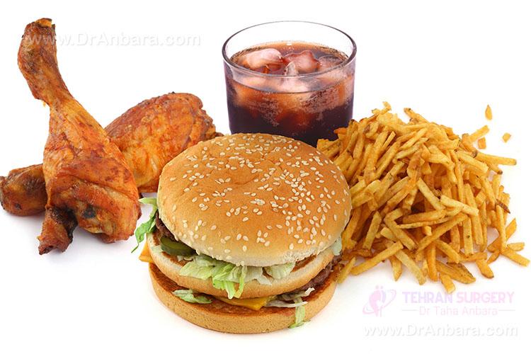 رژیم غذایی نامناسب