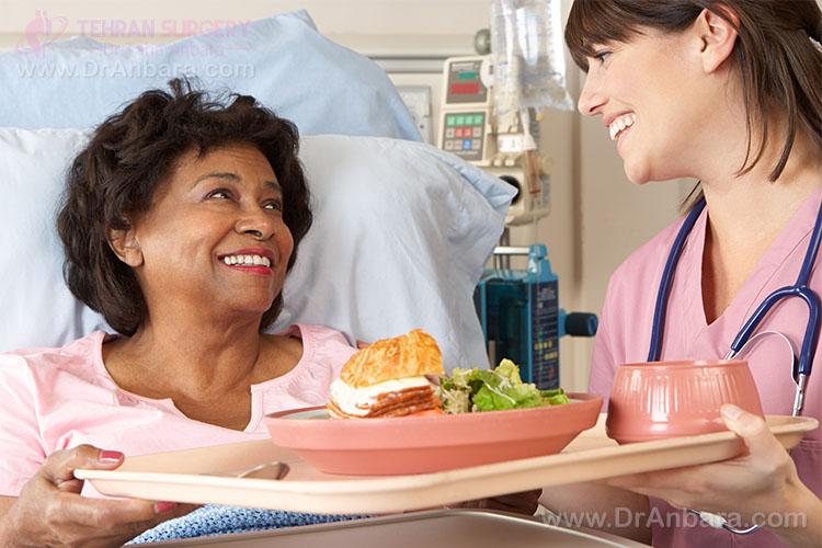 تصویر غذای بیمارستان