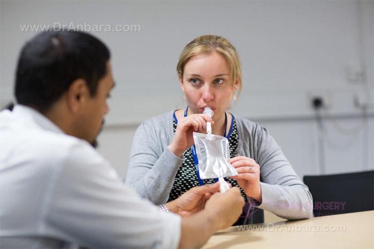 نوشیدن مایع کنتراست