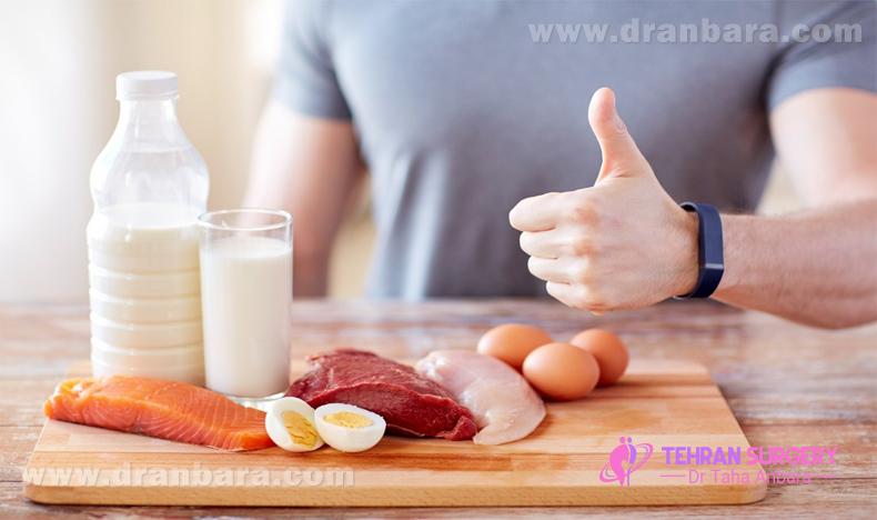 مصرف پروتئین بعد از عمل لاغری