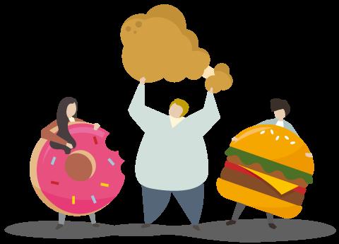 مصرف غذای ناسالم را محدود کنید