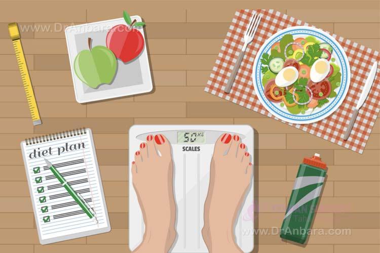 التخسيس و اتباع نظام غذائي