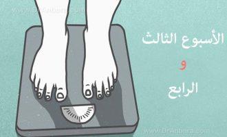 الأسبوع الثالث والرابع بعد جراحة إنقاص الوزن